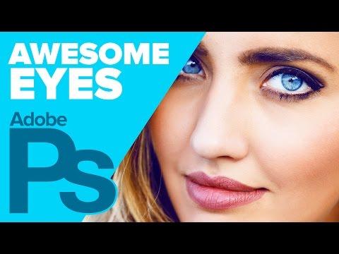 Photoshop: Awesome Eye Enhancement! Digital Makeover