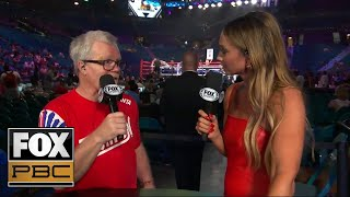 Freddie Roach joins Kate Abdo after an epic battle between Pacquiao and Thurman | PBC ON FOX