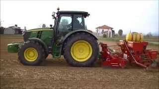NEW JOHN DEERE 6110 RC + combinata gaspardo 3 m (semina mais)