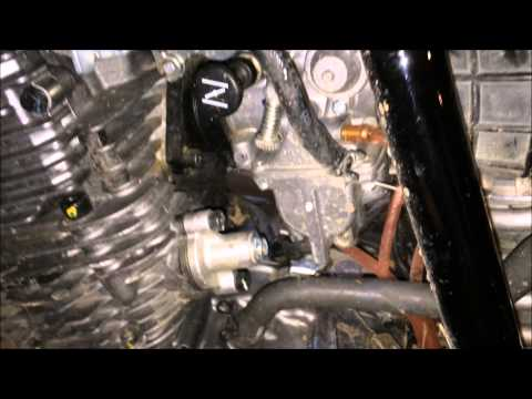 how to adjust the idle on a dirt bike