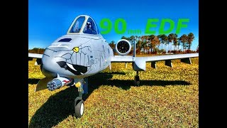 Freewing A-10 Thunderbolt II 80/90mm EDF Jet Maiden Flight | RC Sunk Works ADP