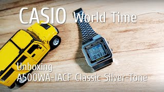 198 Unboxing :: CASIO World Time A500WA-1ACF Classic Silver-Tone Watch