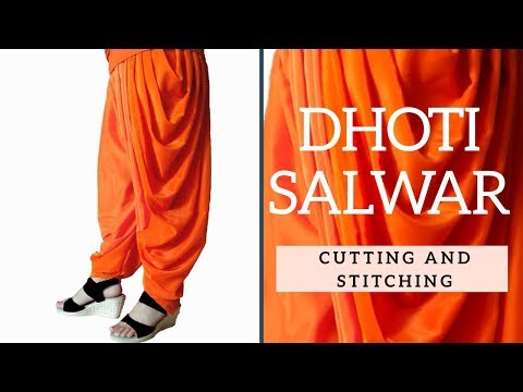 Dhoti salwar cutting and stitching easy step by step