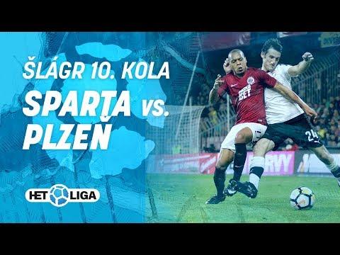 Sestřih šlágru 10. kola HET ligy mezi Spartou a Plzní (0:1)