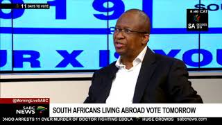 Mamabolo on readiness as SA expats vote on Saturday 27th April 2019