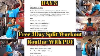 Day 3 Free 3 Day Workout Routine With PDF