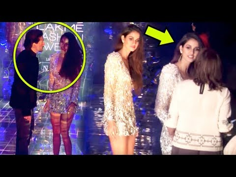 Tiger Shroff Saves GF Disha Patani From Wardrobe Malfunction At Lakme Fashion Week