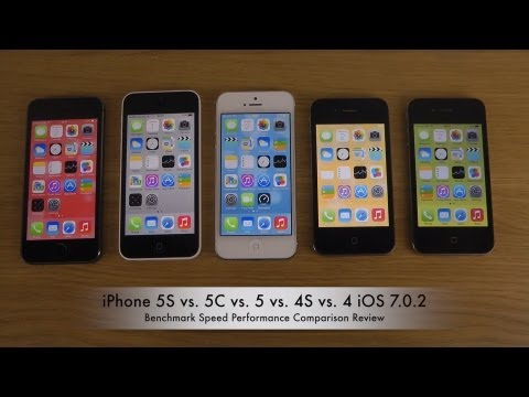 iPhone 5S vs. 5C vs. 5 vs. 4S vs. 4 iOS 7.0.2 - Benchmark Speed Performance Review