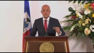 VIDEO: Haiti - Discours President Martelly - Bataille De Vertieres 2014