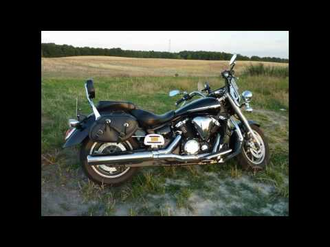 YAMAHA V-Star XVS 1300 Midnight Star original exhaust vs. Miller Auspuff sound