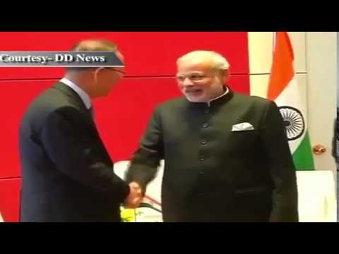 PM Shri Narendra Modi meets UN Secretary General Ban Ki Moon