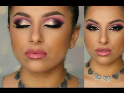 Purple & Gold Glam Makeup Tutorial   Makeup By Leyla