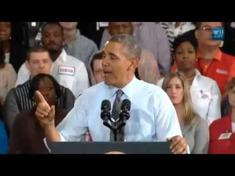 Obama At Costco Promotes Higher Minimum Wage