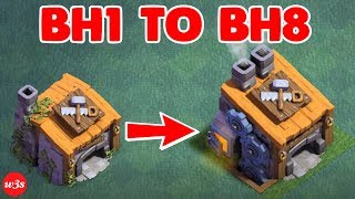 New COC Builder Hall 1 To Builder Hall 8 Max Within 20 Minutes 2017