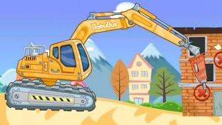 Trò chơi cho trẻ em - Máy xúc, máy ủi, xe cẩu, xe tải - Game 3D for Kid
