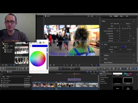 Final Cut Pro basics - Adding text and transitions