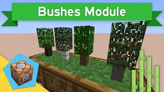 TINY TREES in Vanilla Minecraft 1.10+ | Bushes Module Command Block Creation