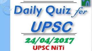 Hindi 24 April 2017 Upsc Prelim Mcq Strand Lb Revision Of Pib Hindu Discussion Yojana