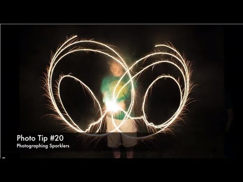 Photo Tip #20 - Sparkler Photos - Long Exposure Light Painting