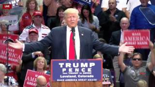 Donald Trump Asks The Cameras to Show the Crowd in Loveland- Only Ours Move!