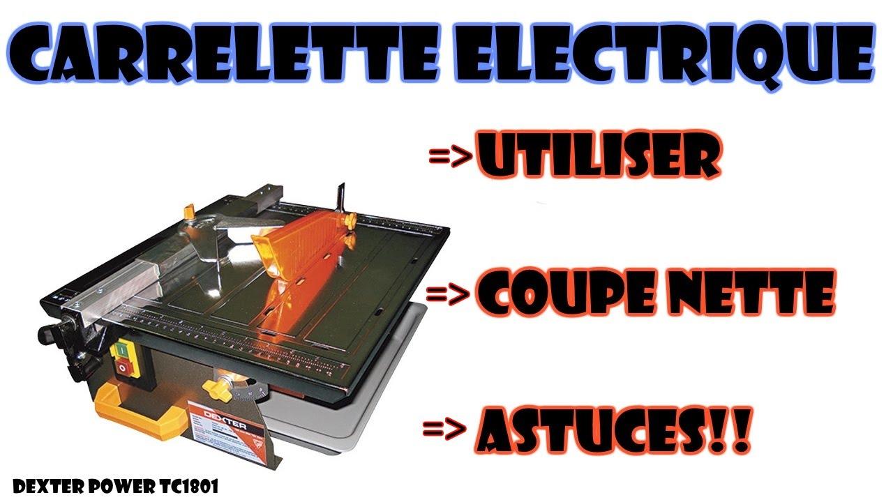 couper du carrelage avec une carrelette electrique - YouTube