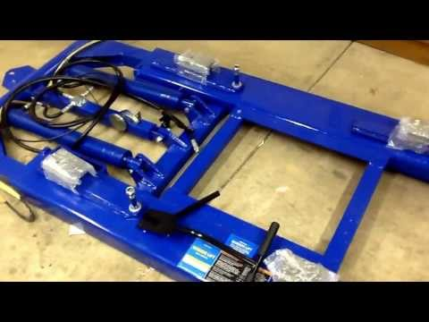 Harbor Freight Scissor Lift #91315 uncreating and startup review