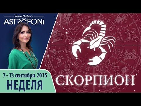 Гороскоп скорпион женщи    неделю
