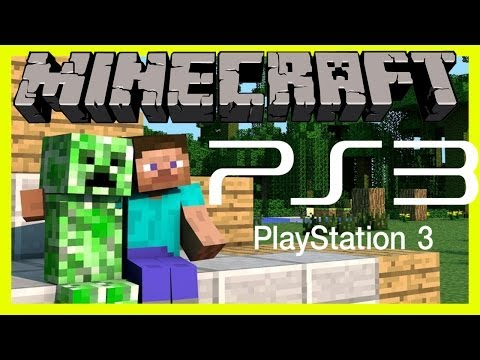 Minecraft Ps3 Playstation 3 Edition Version Gameplay Part 1 SURVIVING OUR FIRST NIGHT
