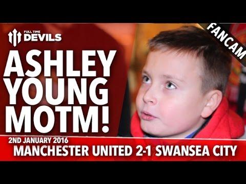 Ashley Young MOTM | Manchester United 2-1 Swansea | FANCAM