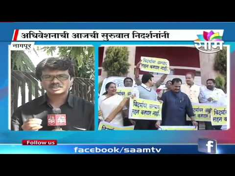 Winter Session begins with protests for Separate Vidarbha,Dhangar reservation