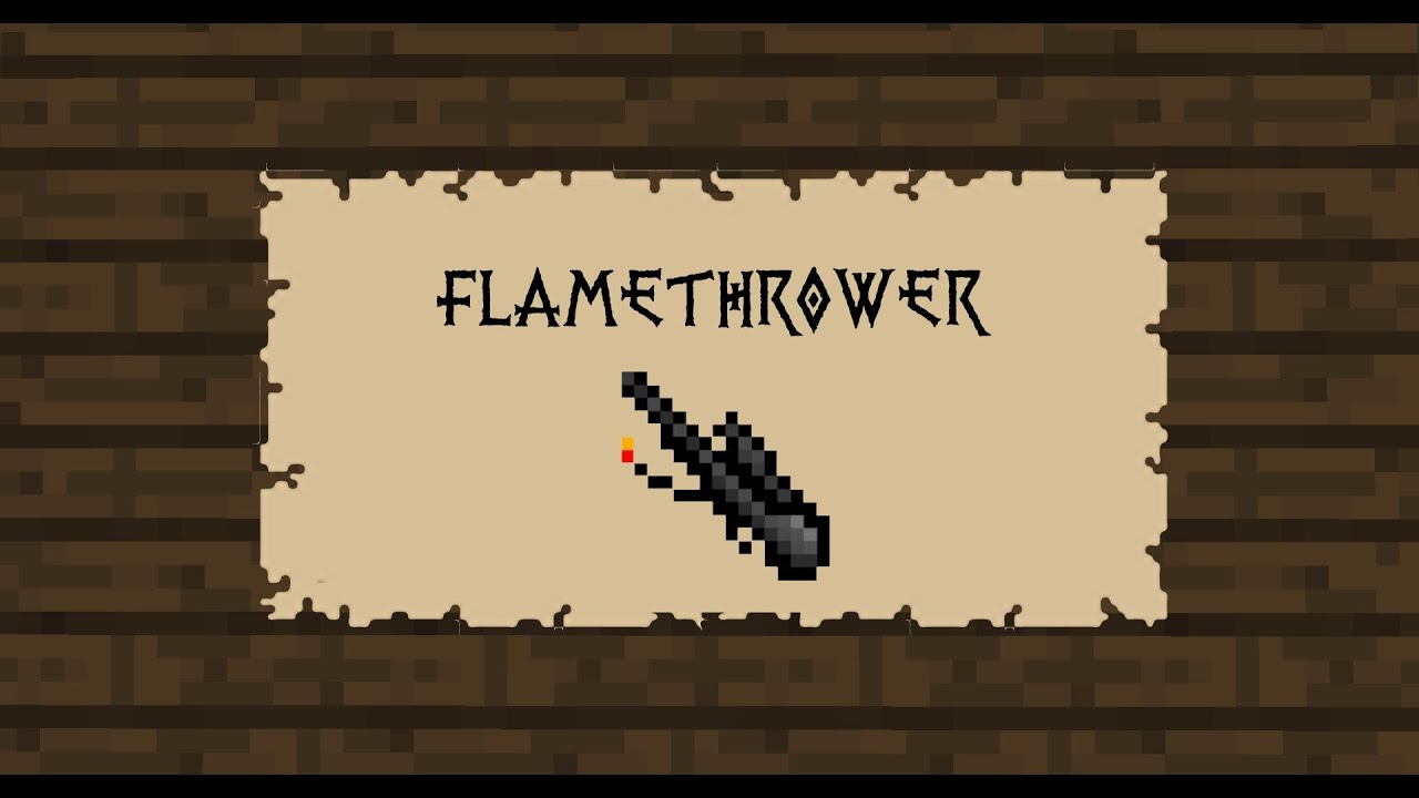 how to make a flamethrower in minecraft