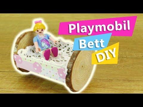 ... Playmobil Bett Selber Machen Aus Holz U0026 Pappe | Mini Puppenbett  Schaukelbett Selber Bauen | DIY