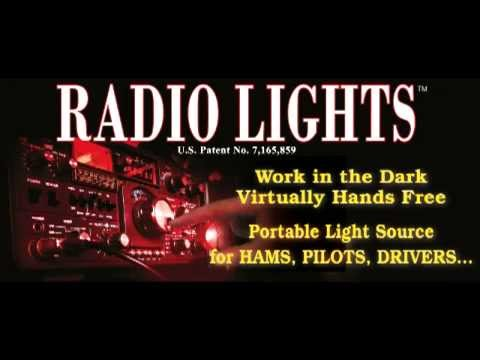 Radio Lights - hands free lights for HAMS, pilots, drivers, computer operators and more!