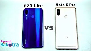 Huawei P20 Lite vs Redmi Note 5 Pro SpeedTest and  Camera Comparison