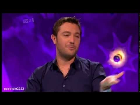 Gino D'acampo Shows Fearne Cotton The Radio One Position - Celebrity Juice