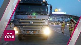 Xe tải chống cự CSGT trong đợt tổng kiểm tra
