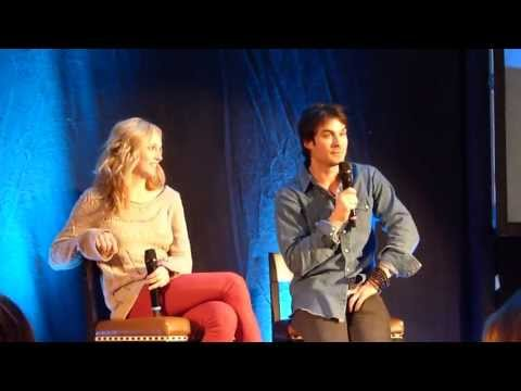 Ian Somerhalder and Candice Accola Q&A at Brussel saying I love you in different languages