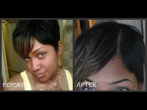 How To Fake A Part On Your Wig NON LACE FRONT Part 2