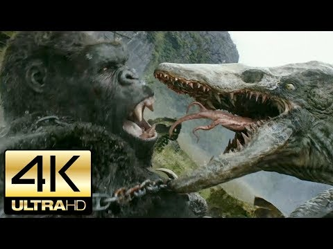 Kong: Skull Island 2017 - All Kong and Creature Scenes | 4K Ultra HD