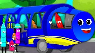 Crayons Wheels On The Bus   Bus Song   Nursery Rhymes   Kids Songs   Children Rhyme