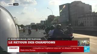 En DIRECT - Accident de scooter sur le périphérique à l'occasion du retour des Bleus