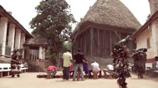 Juju dancing at palace of the Fon of Bafut or Ntoh.