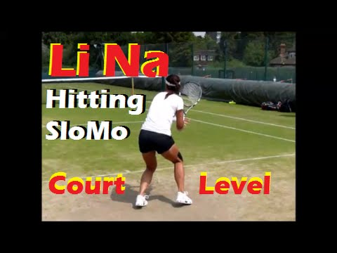 Li Na 2014 | Practice | Slow Motion | Court Level