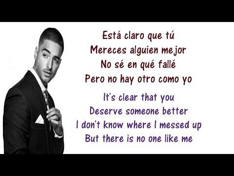 Maluma - El Perdedor Lyrics English and Spanish - Translation & Meaning - The loser