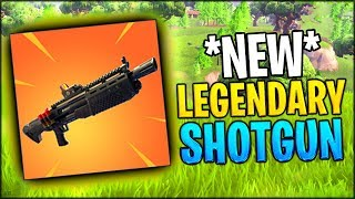 *INSANE NEW UPDATE* NEW LEGENDARY SHOTGUN ADDED INTO THE GAME // Fortnite Battle Royale Update