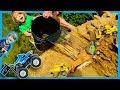 Trucks for Kids - Monster Truck and Construction Truck Waterfall