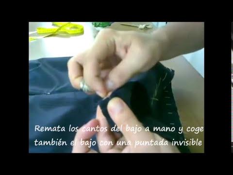 Confección falda lápiz