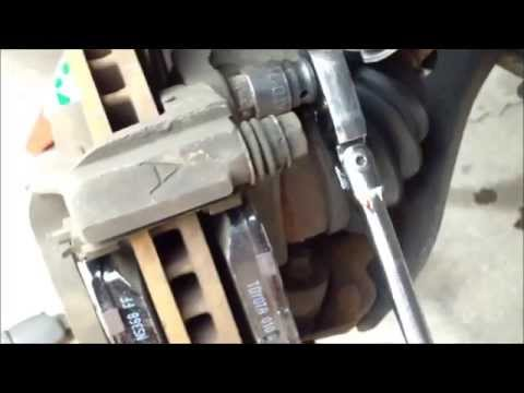 DIY How to replace install brake pads rotors 2004 Toyota Camry
