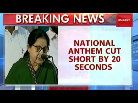 National Anthem Cut Short At Jayalalithaa's Swearing-In Ceremony
