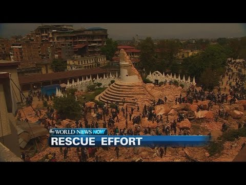 Rescue workers scramble to save lives in the rubble of the deadly earthquake that hit over the weekend in Nepal.